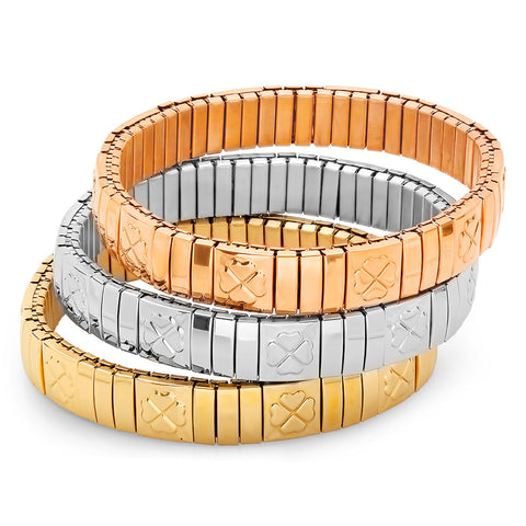 Steeltime Set of 3 Stretch Bracelet