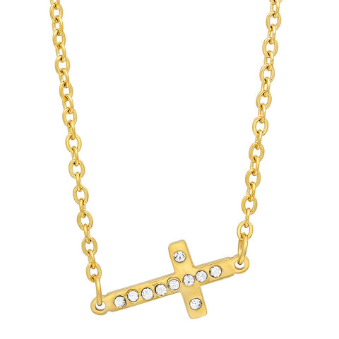 18k Gold Plated Stainless Steel Cross Pendant