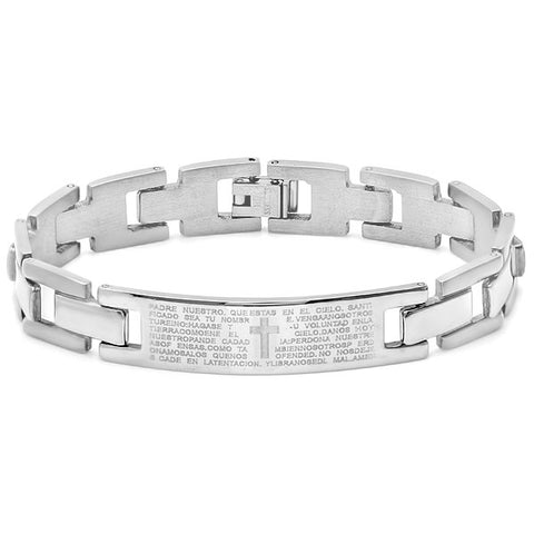 "Men's Stainless Steel ""Our Father"" Bracelet"