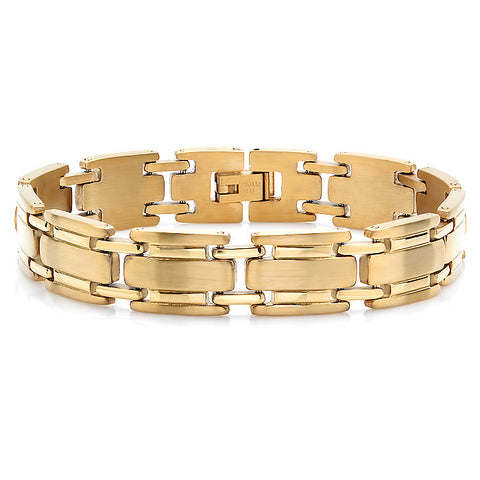 Men's 18kt Gold Plated Stainless Steel Bracelet