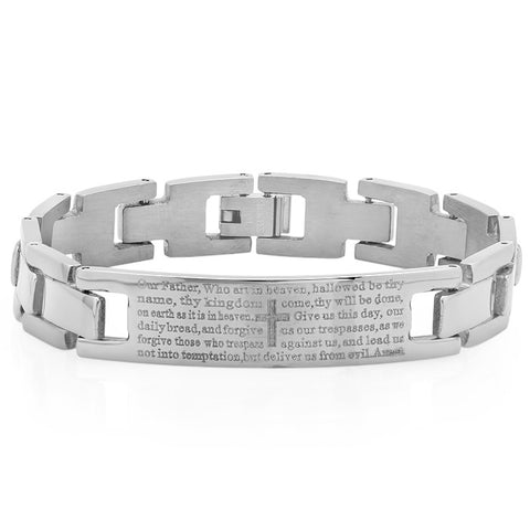 Stainless Steel Prayer Link Bracelet