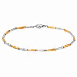 Men's Link Bracelet 18kt Gold/Silver Plated