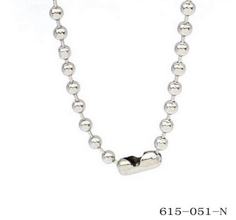 Men's Stainless Steel Ball Chain 24""