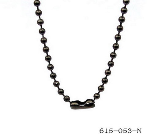 Stainless Steel Ball Chain Necklace in Black 20""