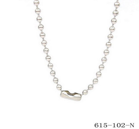Stainless Steel Basic Ball Chain Necklace 30""