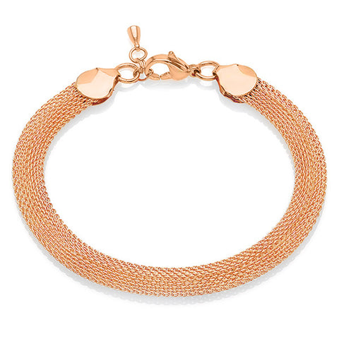 Stainless Steel Women's Rose Gold Mesh Bracelets