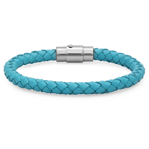 Braided Leather bracelet with clasp