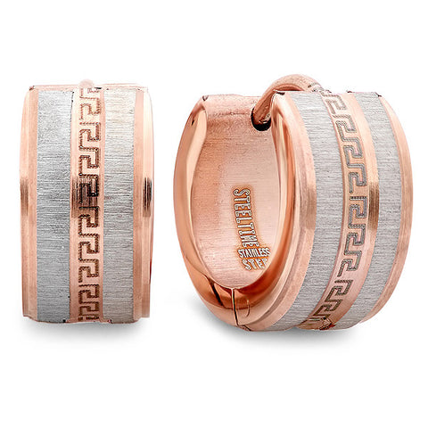 Ladies 18 KT Rose Gold Plated Huggie Earrings