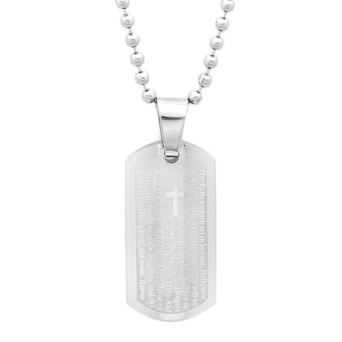 Men's Stainless Steel Dog Tag Pendant