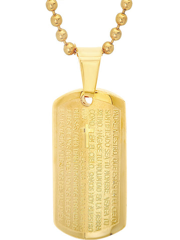 18 KT Gold Plated Lords Prayer Pendant