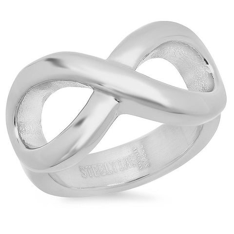 Ladies 18 KT Stainless Steel Plated Infinity Ring