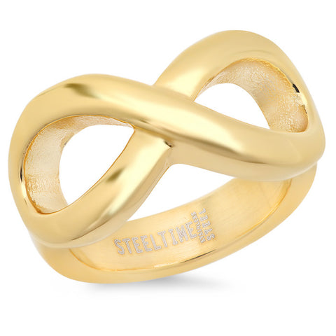 Ladies 18 KT Gold Plated Infinity Ring