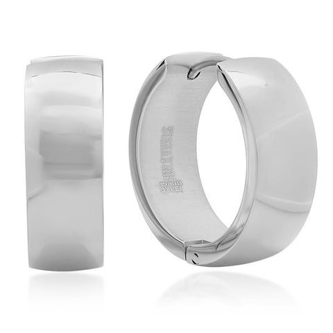 Ladies Stainless Steel Hoop Earrings