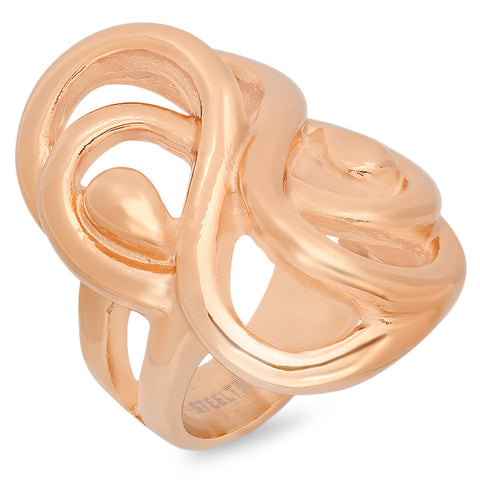 Ladies 18 KT Rose Gold Plated Ring