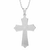 Steeltime 18 KT Gold & Stainless Steel Crucifix Cross Lords Prayer Pendants