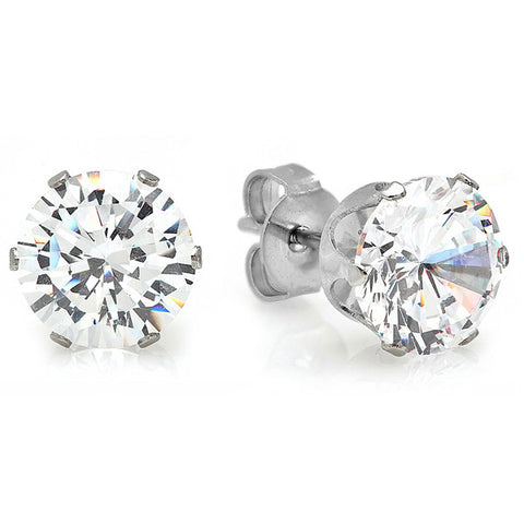 Ladies CZ Stud Earrings