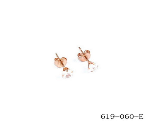 Ladies 18kt Rose Gold Plated Stainless Steel Stud Earrings