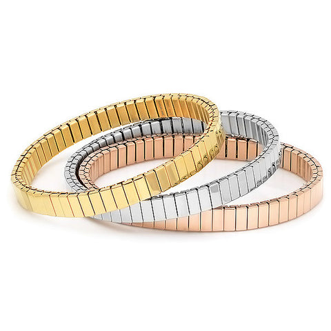 Steeltime Set of 3 Gold, Rose Gold & Stainless Steel