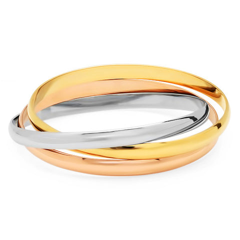 Steeltime Ladies Multicolored Intertwined Bracelet Bangles