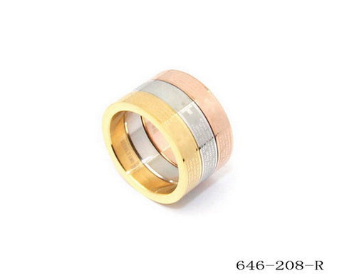 Set of 3 Stackable Prayer Ring in Portuguese