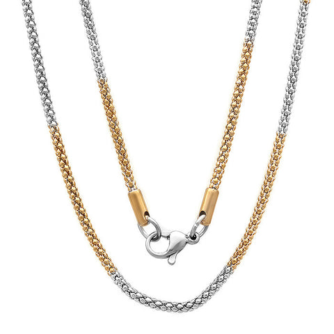 Stainless Steel Women's Multi-Color Chain Necklace