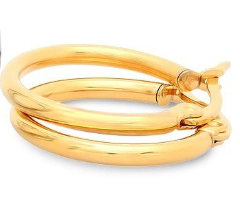 18 KT Gold Plated Hoops
