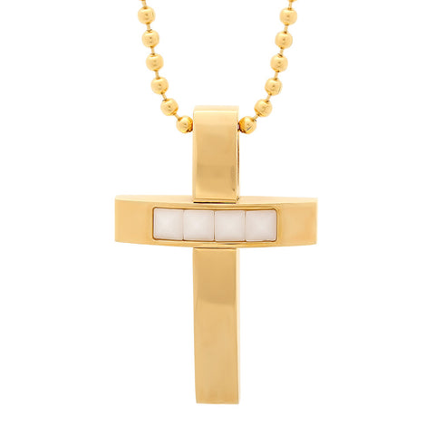 18 KT Gold Plated Cross Pendant