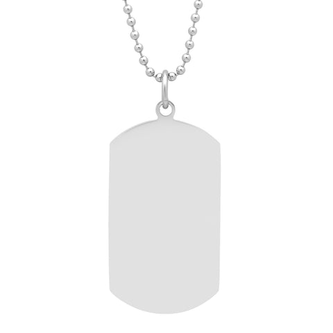 Men's Stainless Steel Tag Pendant