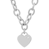 Ladies Swarovski Elements Heart Charm Necklace