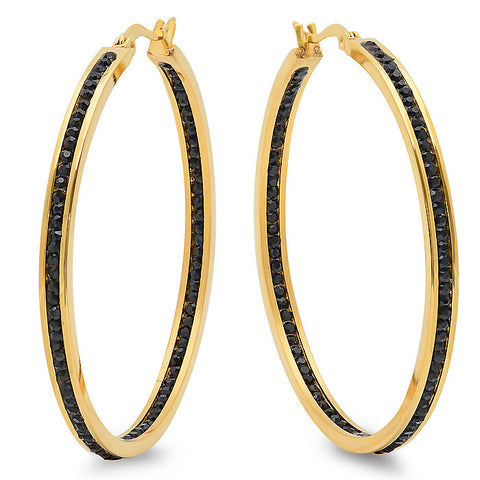 Ladies 18 kt Gold Plated Hoop Earrings