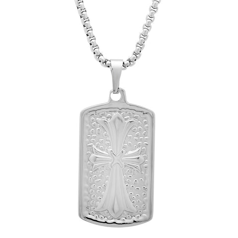 Stainless Steel Necklace with Cross Pendant