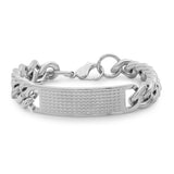 Stainless Steel Studded ID Bracelet