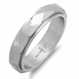 Men's Stainless Steel Skinny Wedding Band With Modern Design