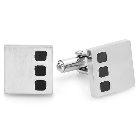 STAINLESS STEEL MEN'S CUFFLINKS
