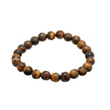Steeltime Genuine Beaded Bracelets (Black, White, Tiger Eye)
