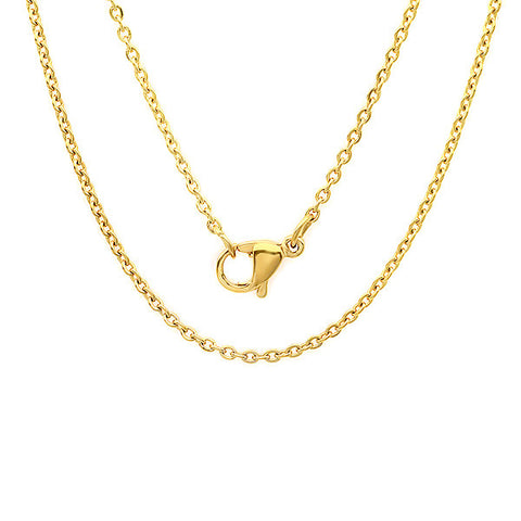 "Women's 24"" 18 CT GOLD PLATED BASIC CHAIN Necklace"