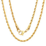 Yellow Gold Rope Chain 18""