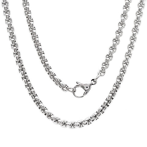 Stainless Steel Basic Chain Necklace 18""