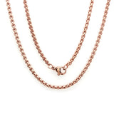 "Women's 18 KT Rose Gold Plated Basic Chain Necklace 16"" 2mm"