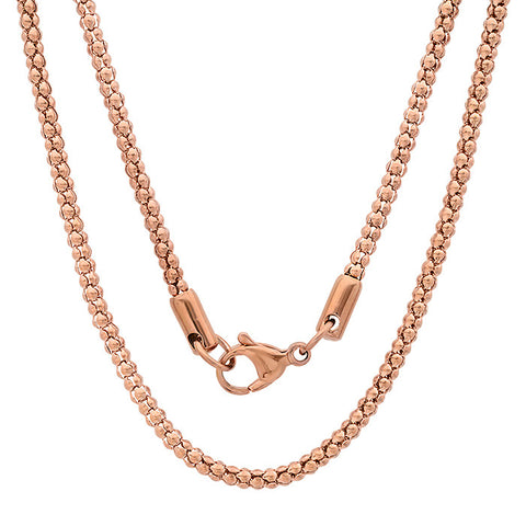 Women's Stainless Steel Necklace in 18 KT Gold Plated
