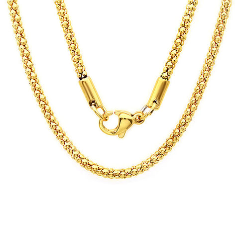 Ladies 18k gold plated stainless steel chain 30""