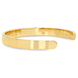 Steeltime Ladies 18k Gold Plated Chicago Coordinates Cuff Bracelet