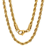 18kt Gold Plated Stainless Steel Necklace 30""