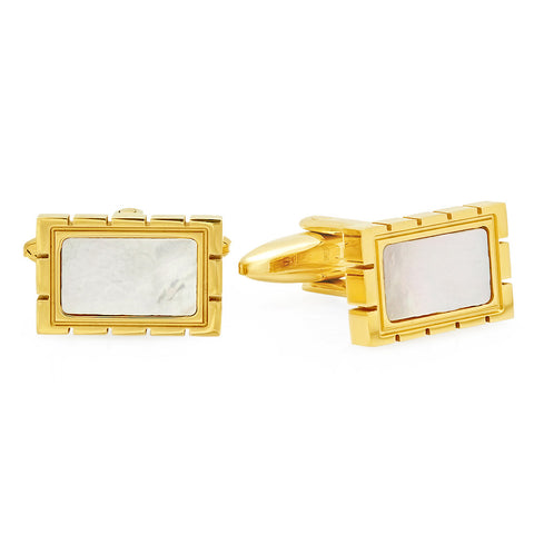 18k Gold Plated Mother of Pearl Cufflinks