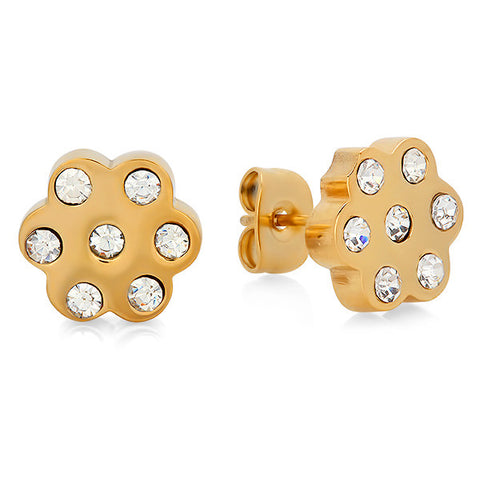 Women's Stud Earrings in 18 CT Gold Plated