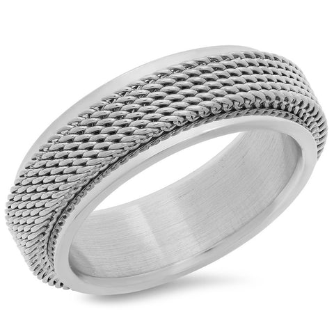 Steeltime Stainless Steel Braided Ring Design