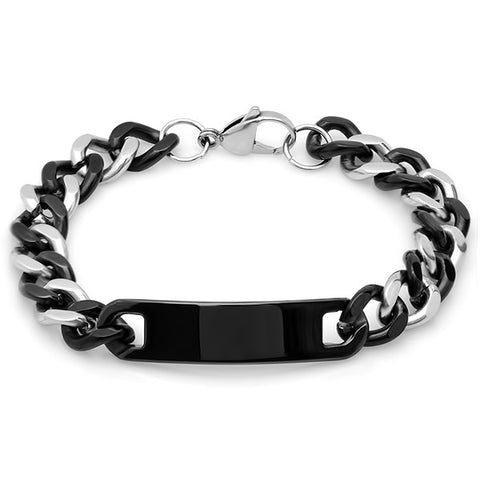 Men's Two-Tone Bracelet w/ID Tag