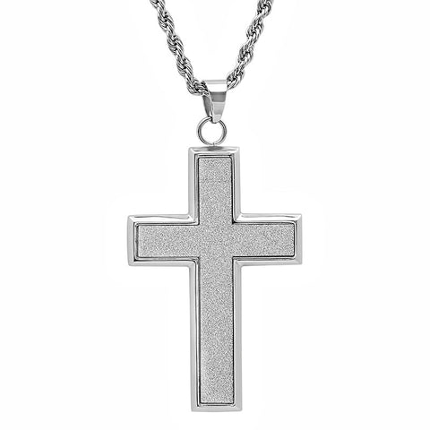 Steeltime Stainless Steel Cross Pendant