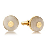 18k Gold Plated Round Cufflinks