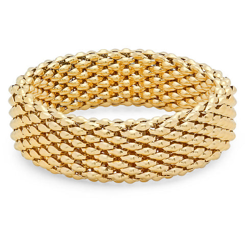 18kt Gold Plated Stainless Steel Stretch Bracelet